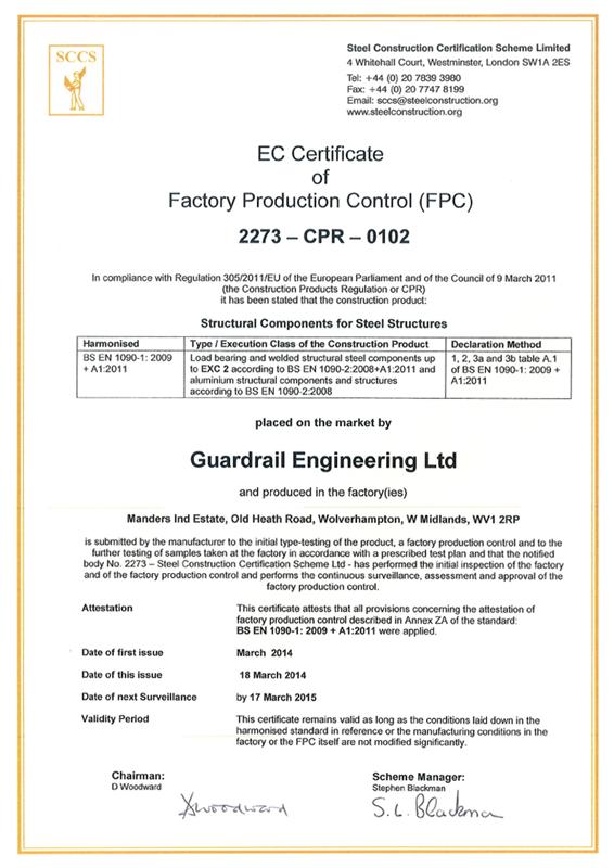 guardrail certificate ec accreditations